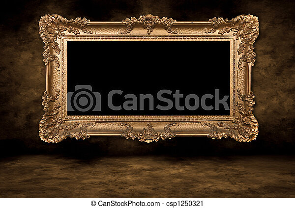Baroque Style Blank Picture Frame - csp1250321