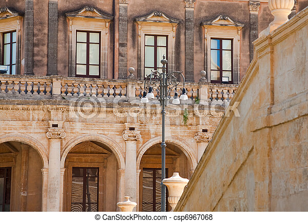 Baroque Style House In Noto Sicily