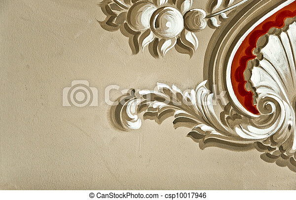 Baroque wall decor. Hand painted baroque style wall decor stock ...