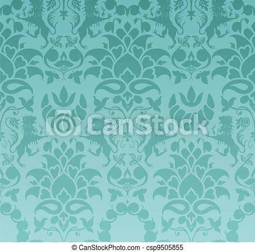 Baroque wallpaper - csp9505855