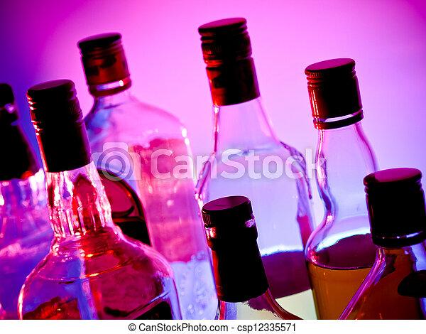 Botellas de bar - csp12335571