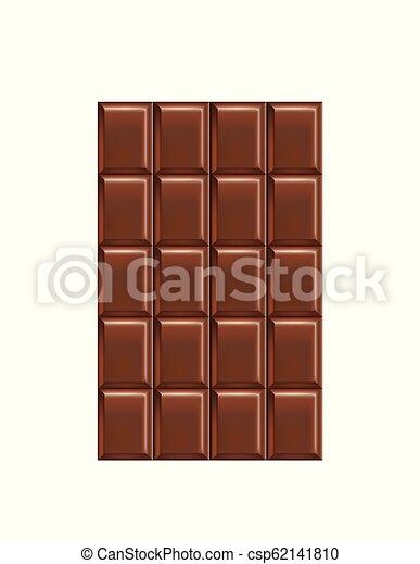 Barra de chocolate - csp62141810