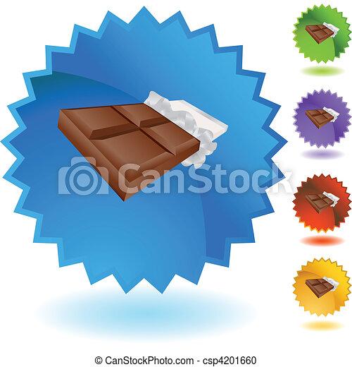 Una barra de chocolate - csp4201660