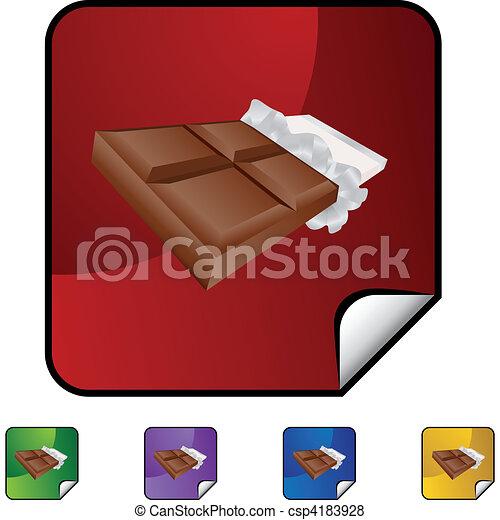 Barra de chocolate - csp4183928