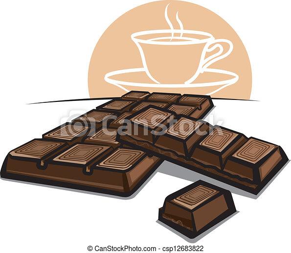 Una barra de chocolate - csp12683822