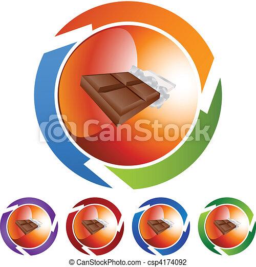 Una barra de chocolate - csp4174092