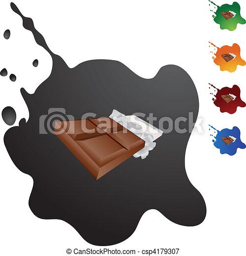 Una barra de chocolate - csp4179307