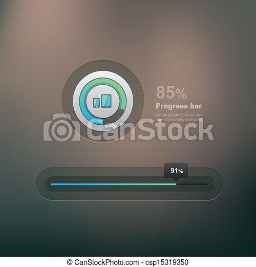 Bar de progreso - csp15319350