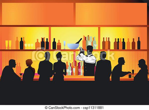 Bar nocturno - csp11311881