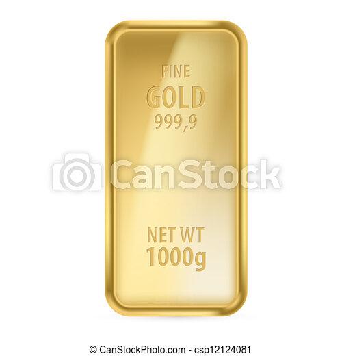 Bar de oro - csp12124081