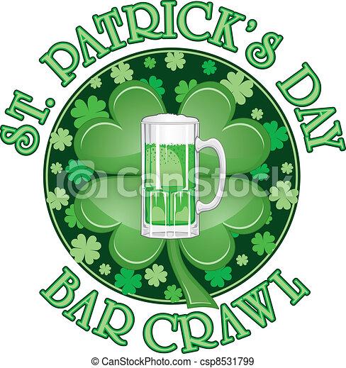 St. Patricks Diseñador de Bares - csp8531799