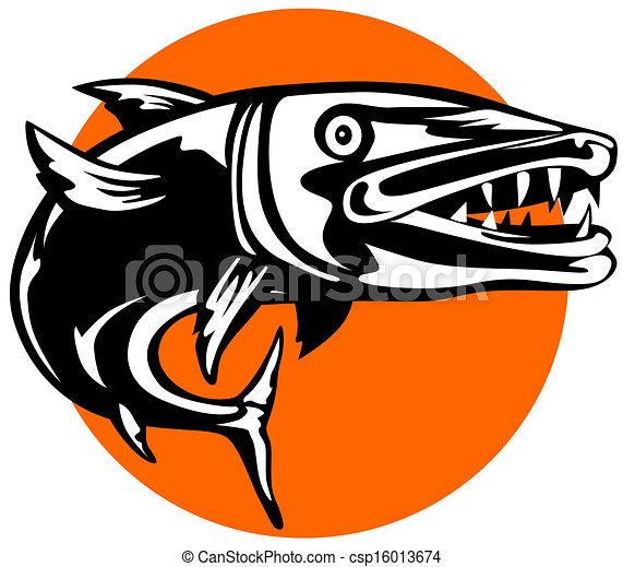 barracuda illustrations and clip art 123 barracuda royalty free rh canstockphoto com barracuda mascot clipart Barracuda Fish