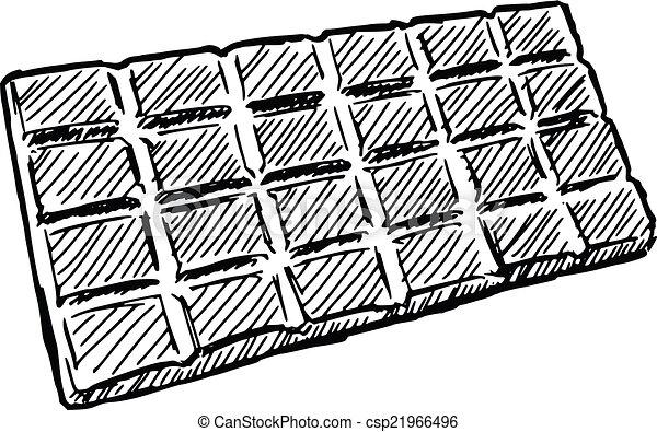 barre chocolat croquis barre griffonnage illustration chocolat main dessin. Black Bedroom Furniture Sets. Home Design Ideas