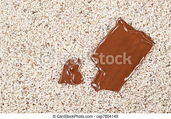 Barre chocolat, laissé tomber, moquette. Fondre, barre ...