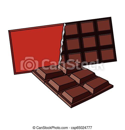 barre, délicieux, chocolat - csp65024777