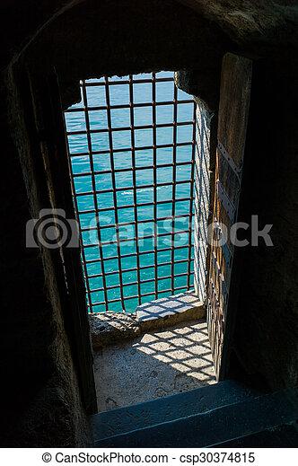 Barred Castle Doorway - csp30374815