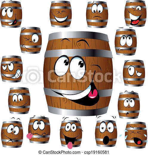 barrel cartoon - csp19160581