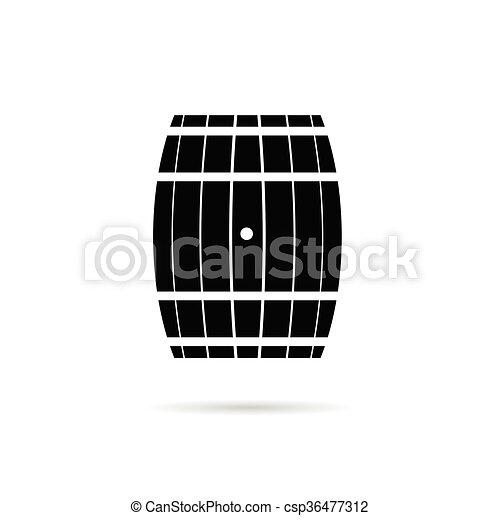 barrel illustration in black - csp36477312