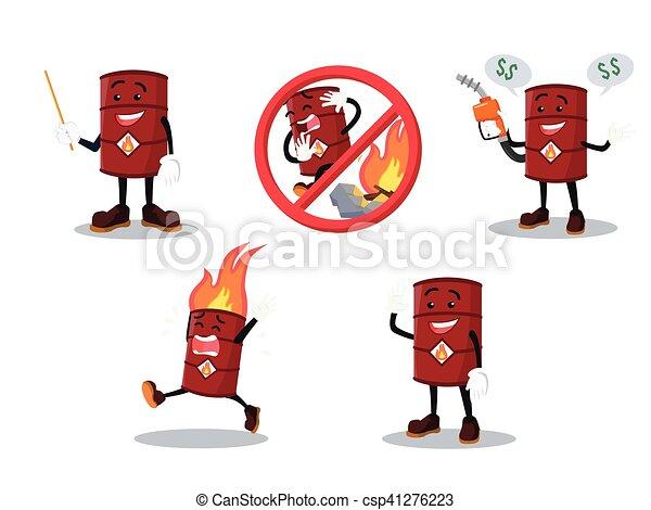 barrel man cartoon set - csp41276223