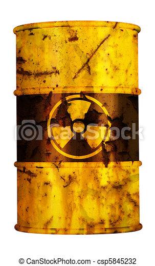 barrel nuclear waste - csp5845232