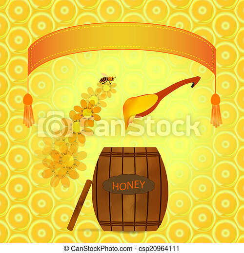 barrel of honey - csp20964111
