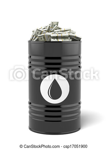 Barrel of oil with dollars - csp17051900