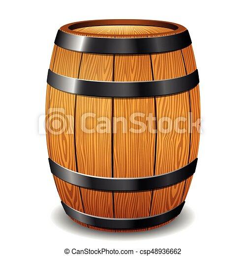 barrel on white background - csp48936662