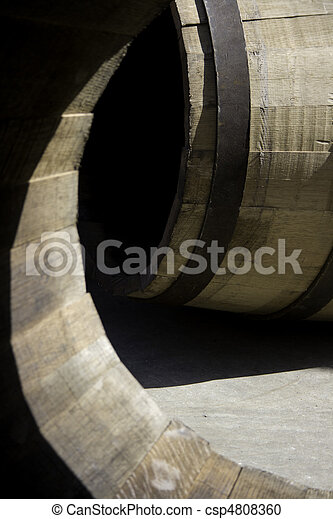 Barrel viewed within other barrel - csp4808360