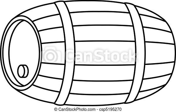 Barrel wood, contour - csp5195270