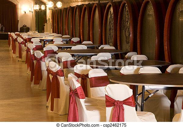 Barrels in a wine-cellar. - csp2462175