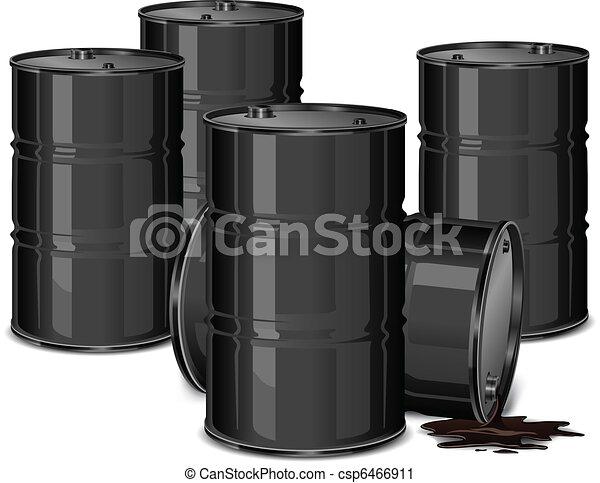 Barrels with oil - csp6466911