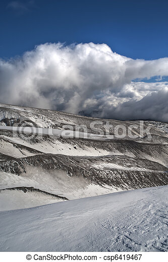 Barren winter landscape - csp6419467