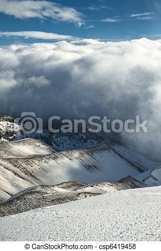 Barren winter landscape - csp6419458