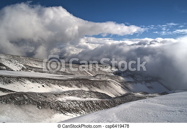 Barren winter landscape - csp6419478
