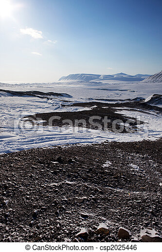Barren Winter Landscape - csp2025446