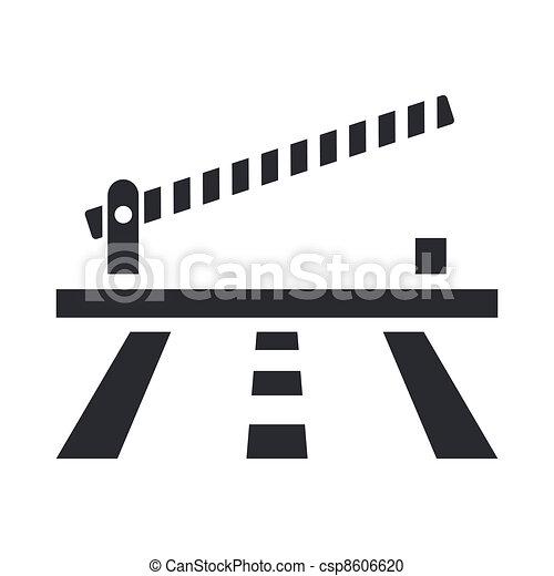 Ilustración vectorial de un icono de barrera aislado - csp8606620