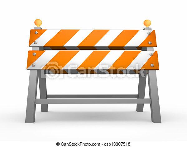 Barrera de carretera - csp13307518