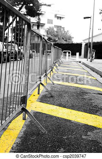 Barrera de estacionamiento - csp2039747