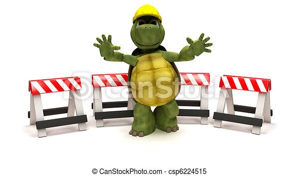 Tortuga con barreras de peligro - csp6224515