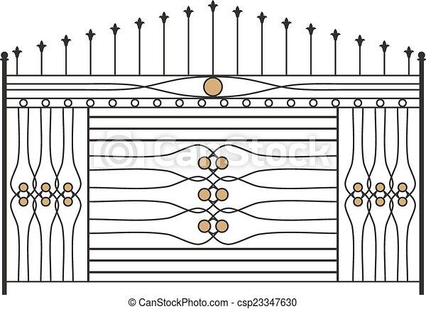 barri re gril porte fen tre conception fer balustrade vecteurs search clip art. Black Bedroom Furniture Sets. Home Design Ideas