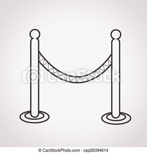 barricade icon - csp26394614