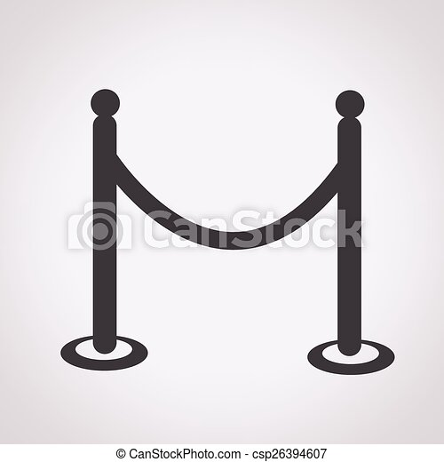 barricade icon - csp26394607