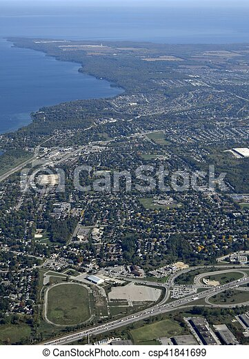 Barrie Ontario, aerial - csp41841699