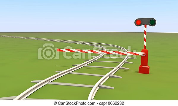 barrier closes the railway - csp10662232