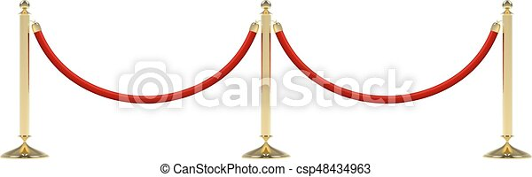 Barriers with red rope - csp48434963