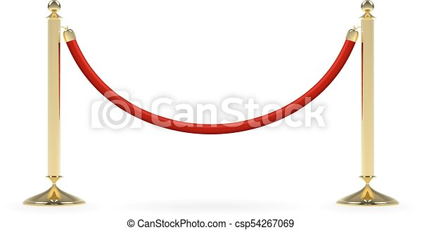 Barriers with red rope - csp54267069