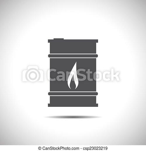 Icono vector de petróleo - csp23023219