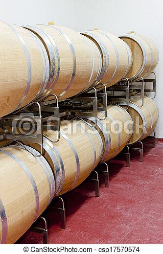 barrique barrels en winery - csp17570574