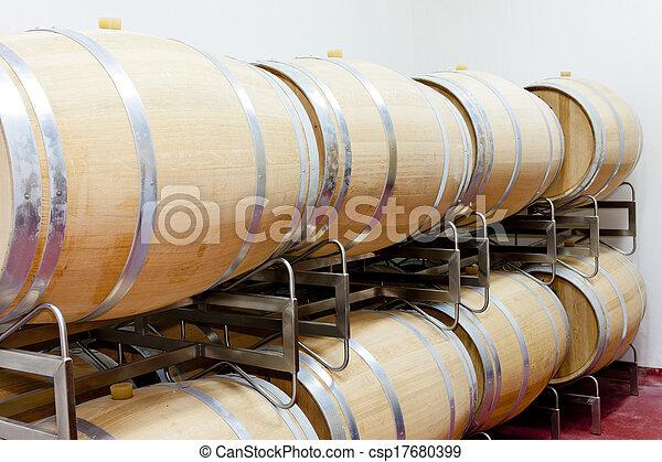 barrique barrels en winery - csp17680399