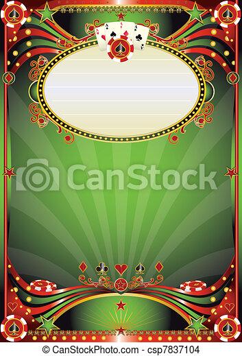 Un fondo barroco del casino - csp7837104
